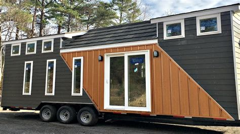 modern tiny house on wheels tiny houses on wheels floor tiny house on wheels modern 2 lofts l shaped kitchen full