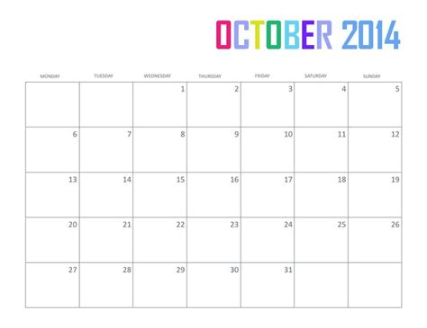 october 2014 calendar template 25 best ideas about october 2014 calendar on