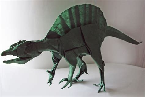 Origami Spinosaurus - amazing origami animals by matthieu georger