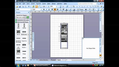 Software Floor Plan by Creating Rack Diagrams Using Visio Youtube