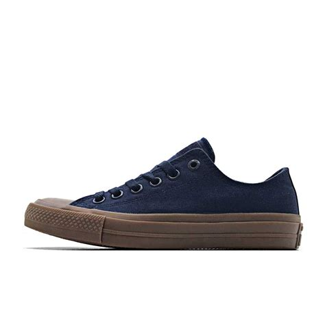 Sepatu Converse All Chuck Ii Black Sole Gum converse chuck 2 ox canvas low obsidian gum all365n