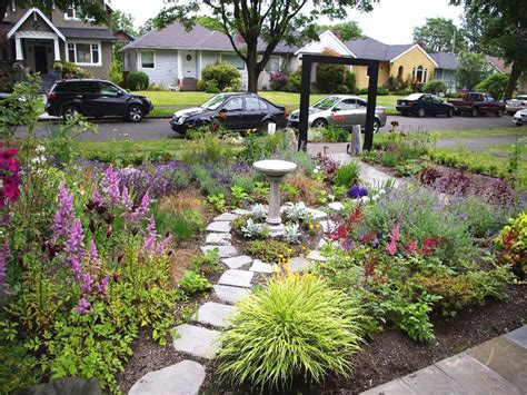 design ideas for your garden unusual garden house design with white stone footpath and