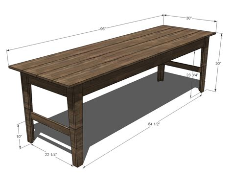 farm bench plans narrow farm table plans diy free download wood duck cross
