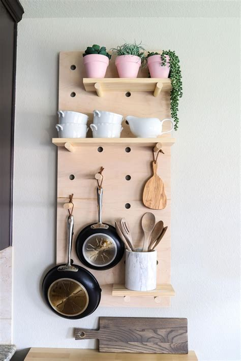 cabinet space   diy wall mounted pot rack