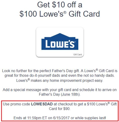 Lowe S E Gift Card - gyft lowes 100 egc