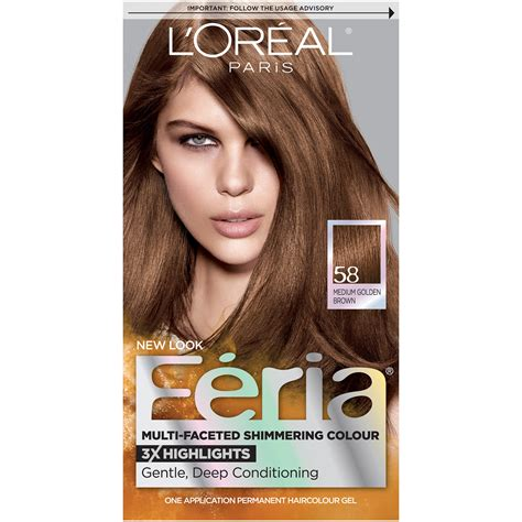 bronze brown hair color l oreal feria haircolor bronze shimmer 58 1
