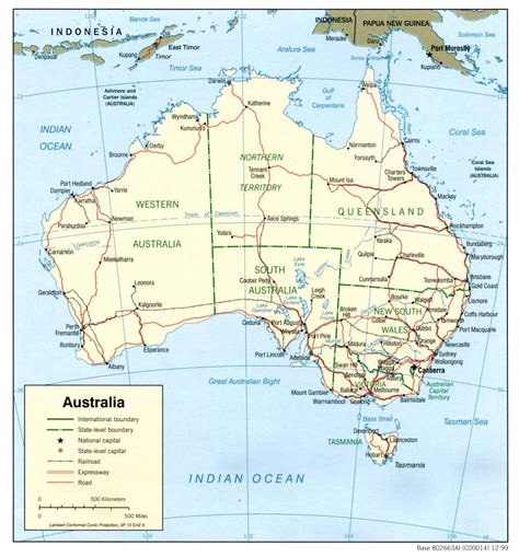 australia map of detailed political and administrative map of australia