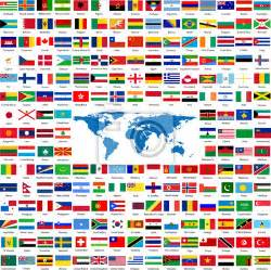 Self Adhesive Wall Murals flags from all over the world laptop stickers stickers