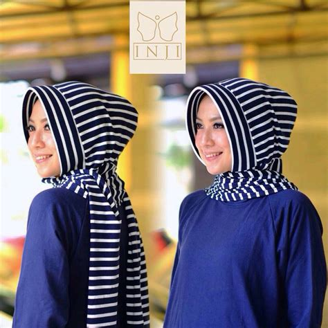 Gamis Anak Busana Muslimah Anak Stripe Perempuan Kerudung Cantik Mo inji jual busana muslim halaman 2