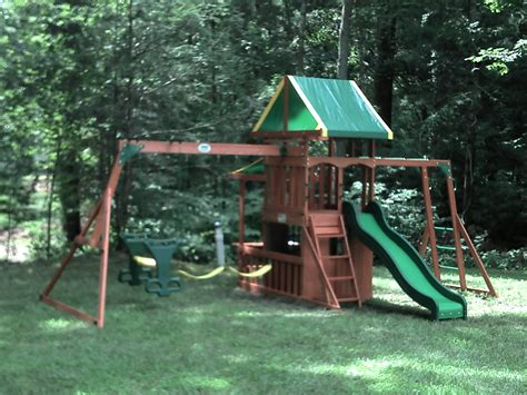 wooden swing sets with installation e street assembly backyard discovery installed