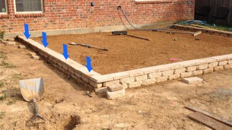 diy paver patio slope how to build a paver patio on a slope paver patio slope