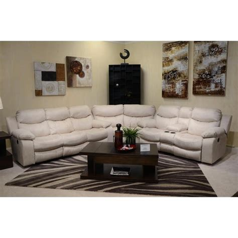 catnapper sectional catnapper nolan 3 piece leather reclining sectional in godiva