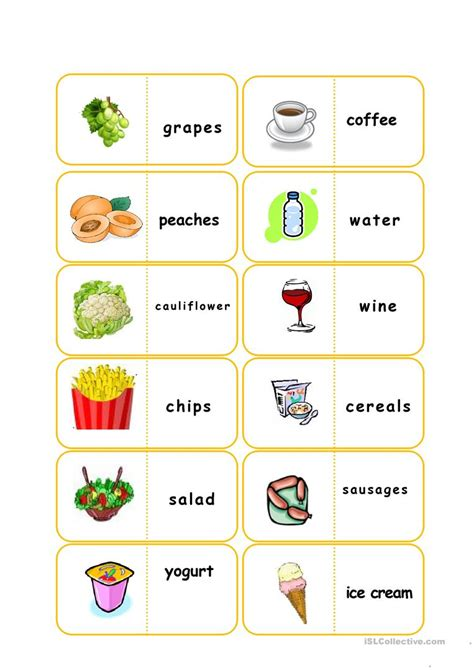 printable flashcards esl food flashcards worksheet free esl printable worksheets