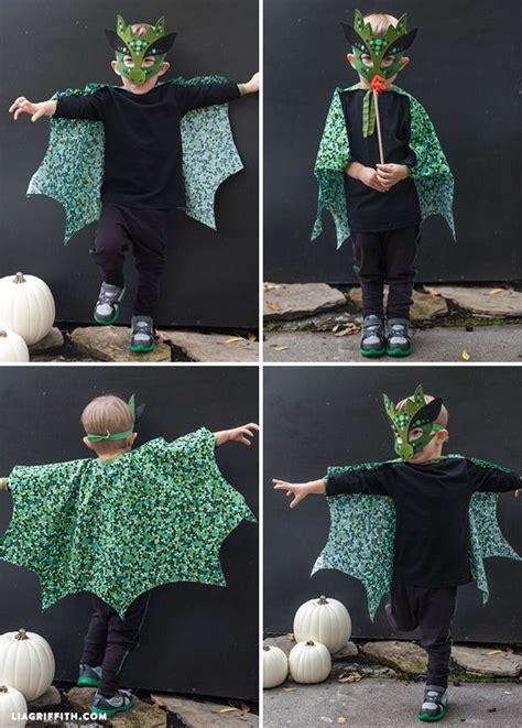 homemade halloween costume  sew dragon mask diy