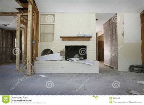 under house renovation brick fireplace in house under renovation stock photo image 33903450