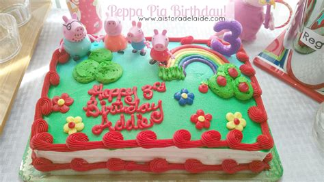 2 Story Home Designs by Peppa Pig 3rd Birthday A Is For Adelaide And