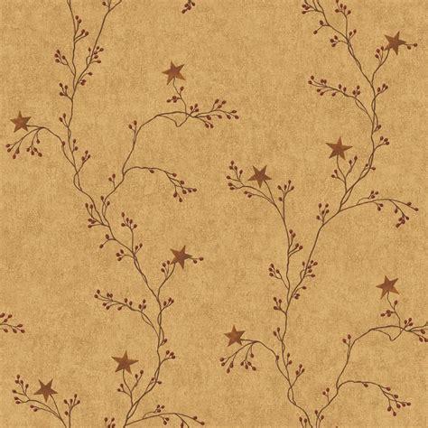 vine wallpaper for walls star berry vine wallpaper mustard sturbridge yankee workshop