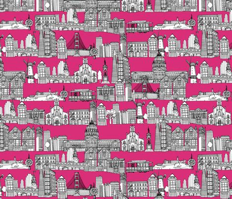 san francisco pink fabric scrummy spoonflower