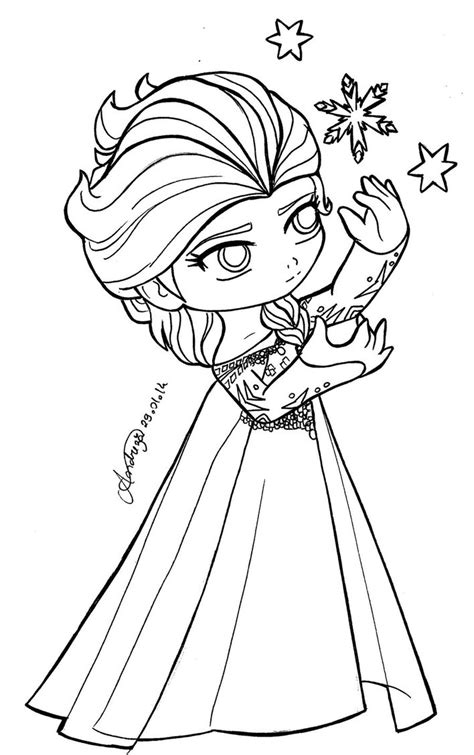 frozen coloring pages baby elsa chibi queen elsa frozen by tifayuy on deviantart