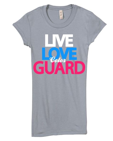 color guard shirts live color guard juniors slim fit t shirt gift ebay