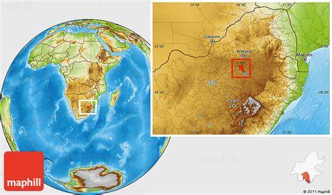 map of vereeniging physical location map of vereeniging