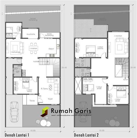 layout rumah sehat denah rumah sehat modern minimalis 2 lantai cuencame