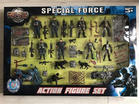 brand  special force police combat action figure set