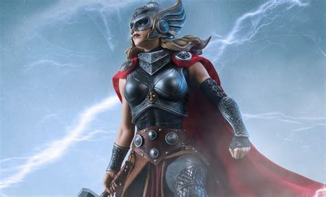Premium Zipper Thor Logo 1 marvel roadworn thor sixth scale figure by toys sideshow collectibles