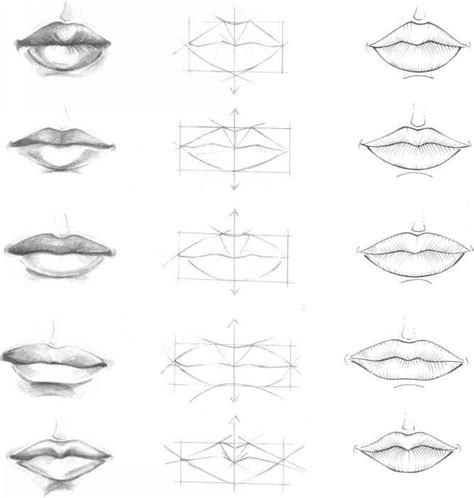 Drawing Mouths by Pics For Gt How To Draw A Smiling Step By Step