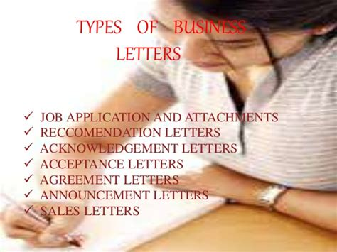 Types Of Business Letter Slideshare different types of business letters