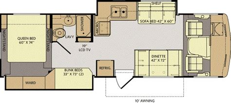 rv bunkhouse floor plans san diego rv dealer current year model class a motorhome bunkhouse rental at norm s rv in san
