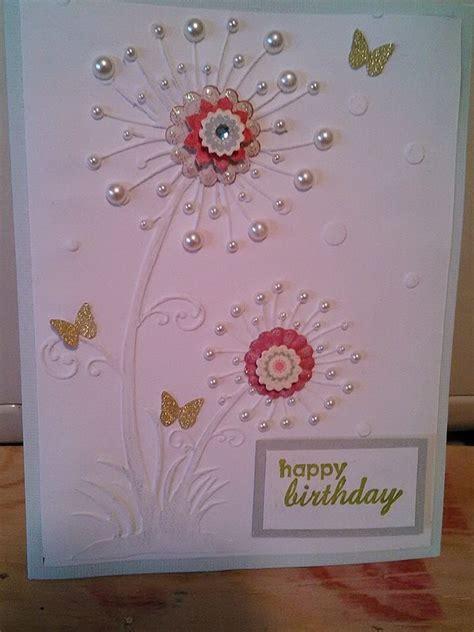 Embossed Birthday Card Ideas Embossed Card Greeting Card Ideas Pinterest