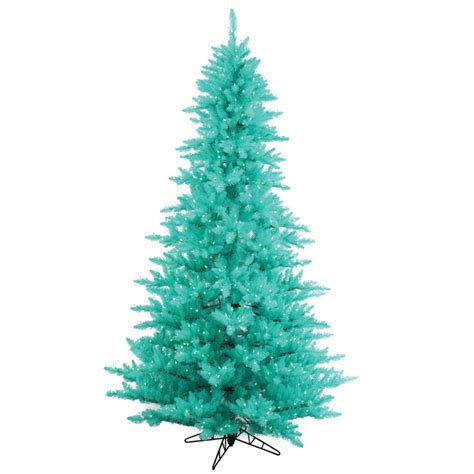 7 5 foot artificial aqua fir christmas tree blue pre lit