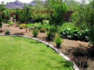 Gardening In Arizona Fruit Trees With A Vegetable Garden Below In Scottsdale
