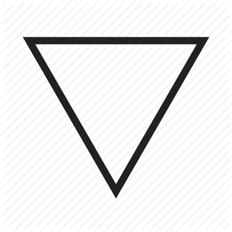 what shape is upstide down triangel design geometry graphic inverted pyramid shape
