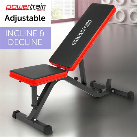 incline or decline bench press powertain adjustable decline incline home gym weight bench