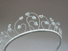 Handmade Tiaras Uk - shimmer tiara a wire crown flower princess by