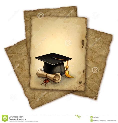 pergaminos para grado casquillo y diploma de la graduaci 243 n fotos de archivo