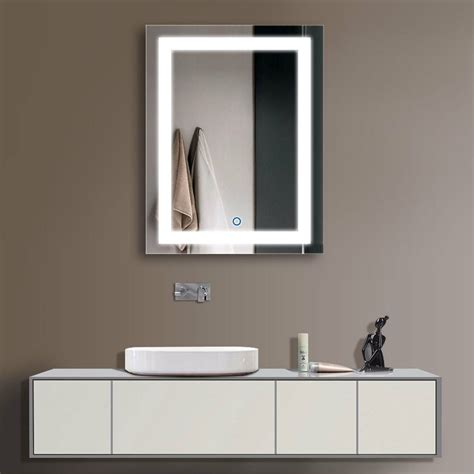Wall Mirrors Bathroom - decoraport vertical led illuminated lighted bathroom wall