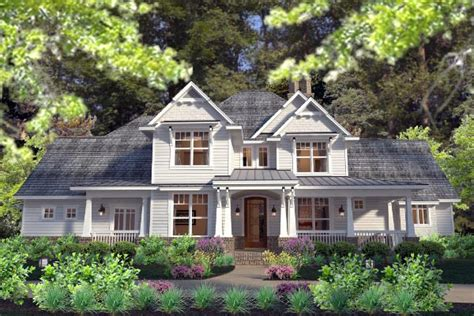 farmhouse elevations country farmhouse southern traditional victorian house