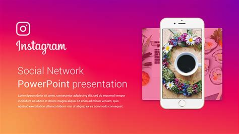 Powerpoint Template Instagram Image Collections Powerpoint Template And Layout Instagram Presentation Template