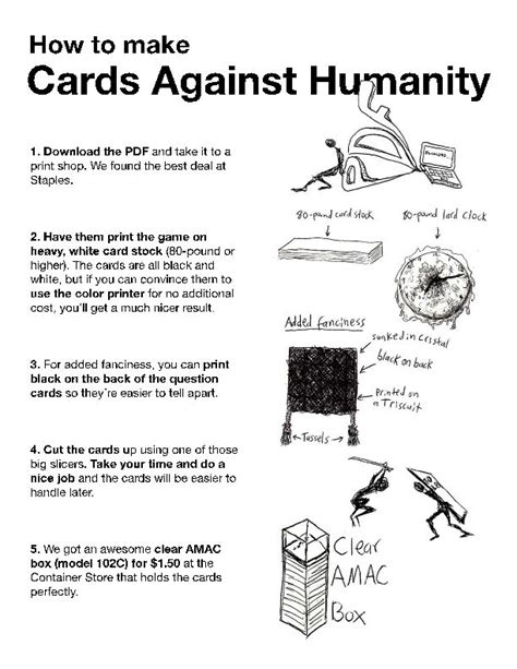 how to make cards against humanity 25 best ideas about cards against humanity printable on