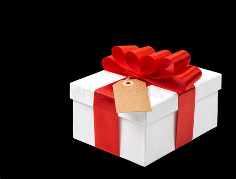 gift box  red ribbon bow decoration  black background stock image image  merry advent