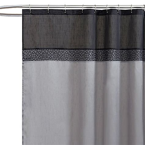 silver shower curtain buy silver shower curtain from bed bath beyond