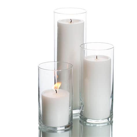 Cylinder Candle Holders eastland cylinders richland pillar candles set of 36