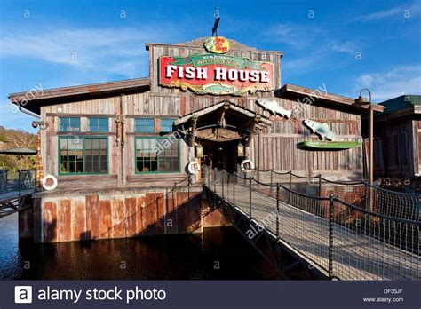 fish house restaurant the fish house restaurant at the branson landing shopping center in stock photo