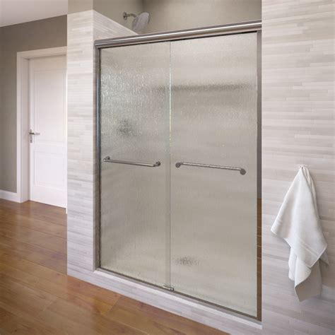 Bypass Shower Doors Frameless Basco Infinity 59 Quot X 70 Quot Frameless Bypass Sliding Shower Door Reviews Wayfair