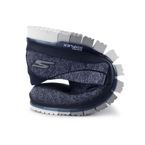 Skachers Go Flex Walk Cowok skechers go flex walk 14010 trainers navy blue grey shuperb