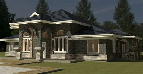 Bedroom Bungalow House Plan By Architect In Kenya House Plans And Designs Kenya