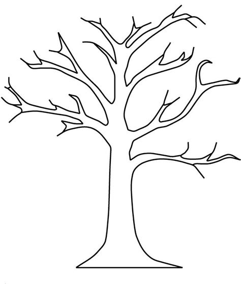tree pattern without leaves coloring page tree apple tree without leaves coloring pages church class